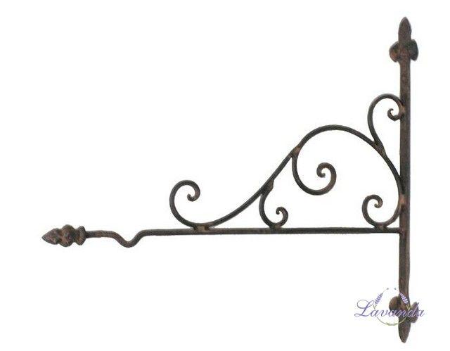 Kovový držiak, držiak na stenu, kovový vešiak, vešiak na stenu, retro vešiak, retro držiak, vešiak na lucernu, držiak na lucernu