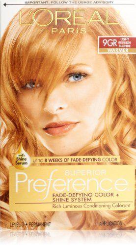 L'Oreal Paris Superior Preference Hair Color, 9GR Light Reddish Blonde