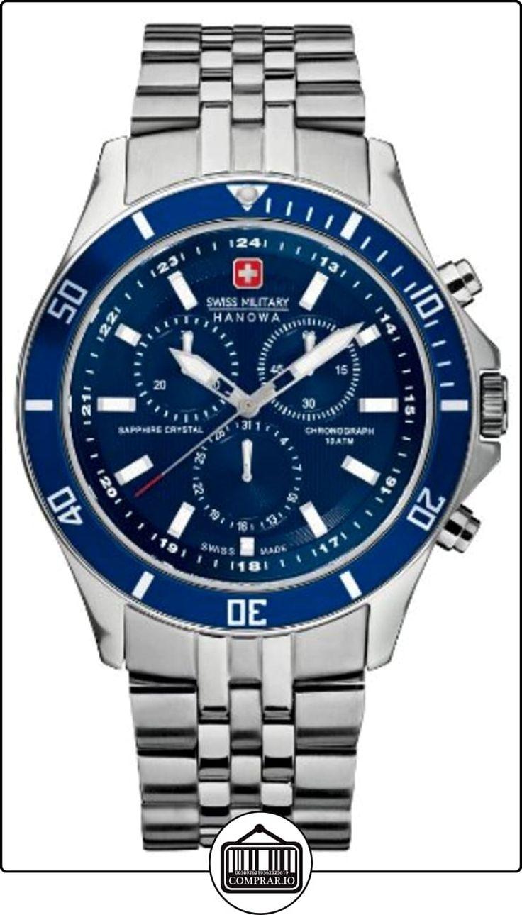 Swiss Military 06-5183.04.003 - Reloj analógico de cuarzo para hombre con correa de acero inoxidable, color plateado de ✿ Relojes para hombre - (Gama media/alta) ✿