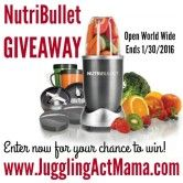 Magic Bullet NutriBullet 12-Piece High-Speed Blender/Mixer System Giveaway  Open to: United States Canada Other Location Ending on: 01/30/2016