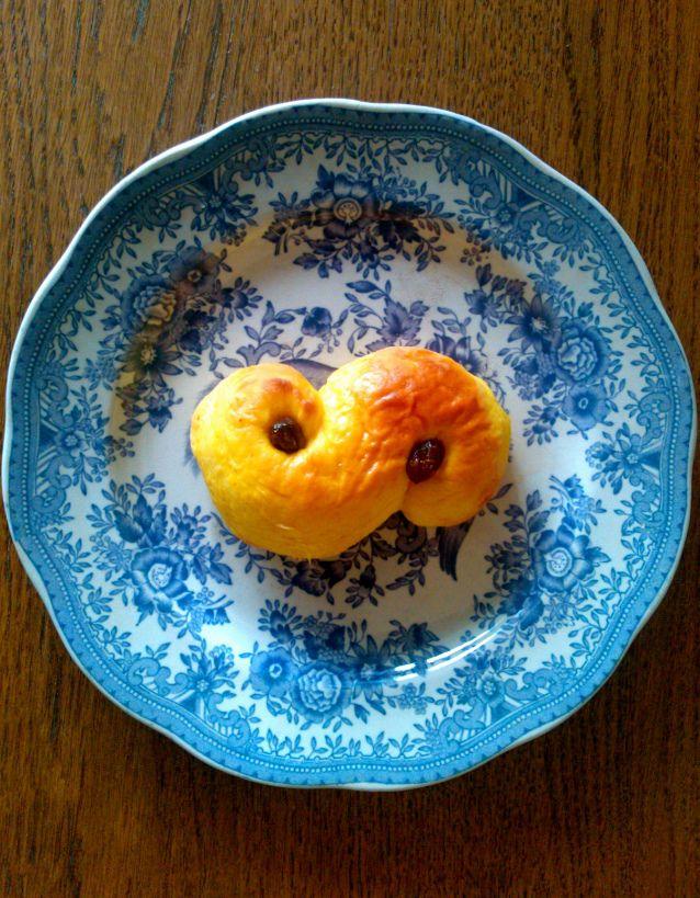8. Swedish saffron buns, Lussekatter. Christmas baking.
