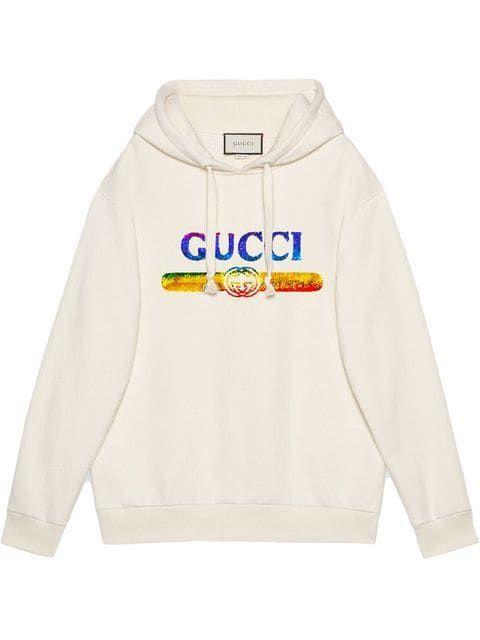 b242779ca120 Gucci Sweatshirt With Sequin Gucci Logo - Farfetch