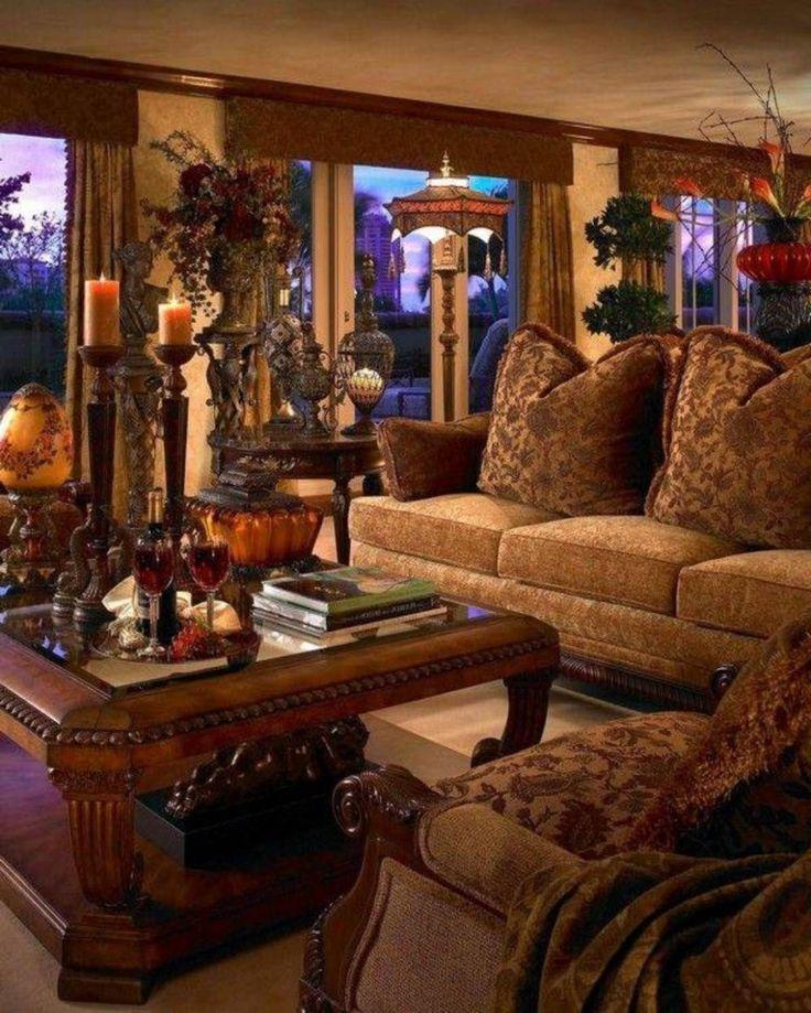 Living Room , Natural Tuscan Living Room : Tuscan Living ... - warm tuscan living room
