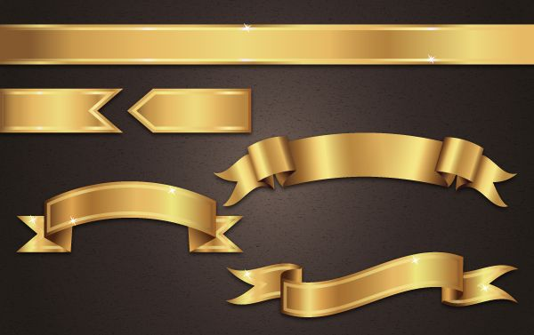 Get Gilded with this Gold Ribbon Banner Vector Tutorial