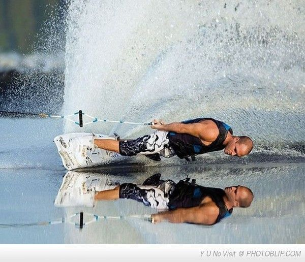 Right On The Edge! Water sports