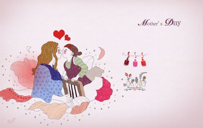 Cartoon,mother,Mother's Day,poster,Hand mother's day gifts mother's day crafts mother's day design mother's day diy mother's day cards mother's day ideas happy mother's day mother's day party mother's day printables mother's day png  mother's day vectors Graphics mother's day background Painted,background,Mother's Day Poster,Background material