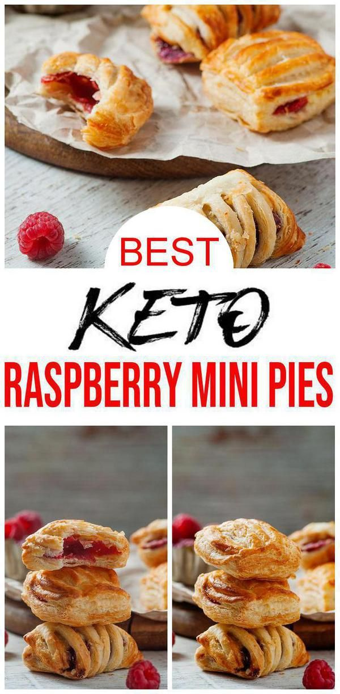 BEST Keto Mini Pies! Low Carb Keto Himbeerkuchen Idee – Schnell & Einfach Ketogene Diät Rezept – Komplett Keto-freundlich