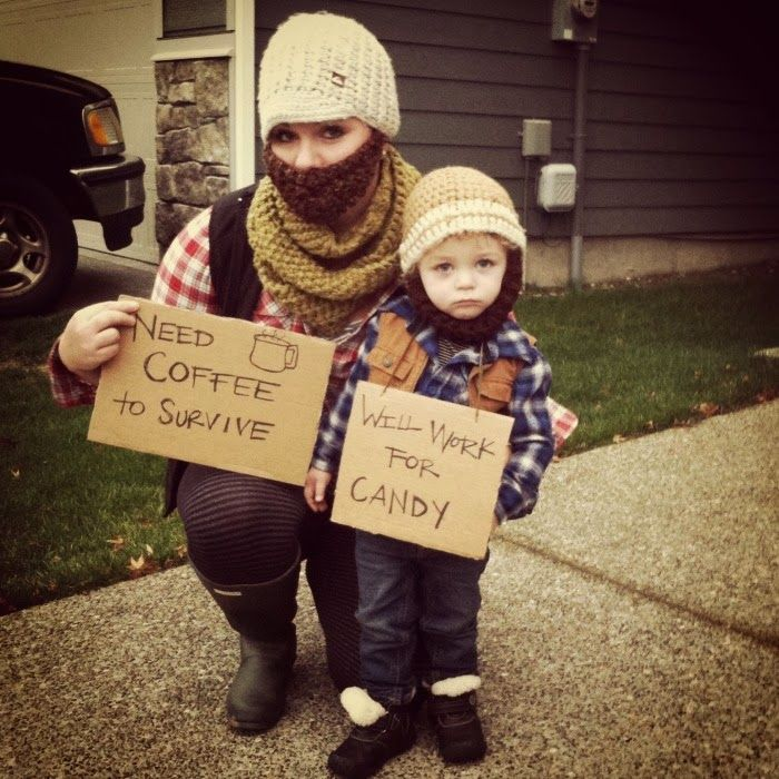 Soooo cute!!! hobo costume, mother son costume, Halloween