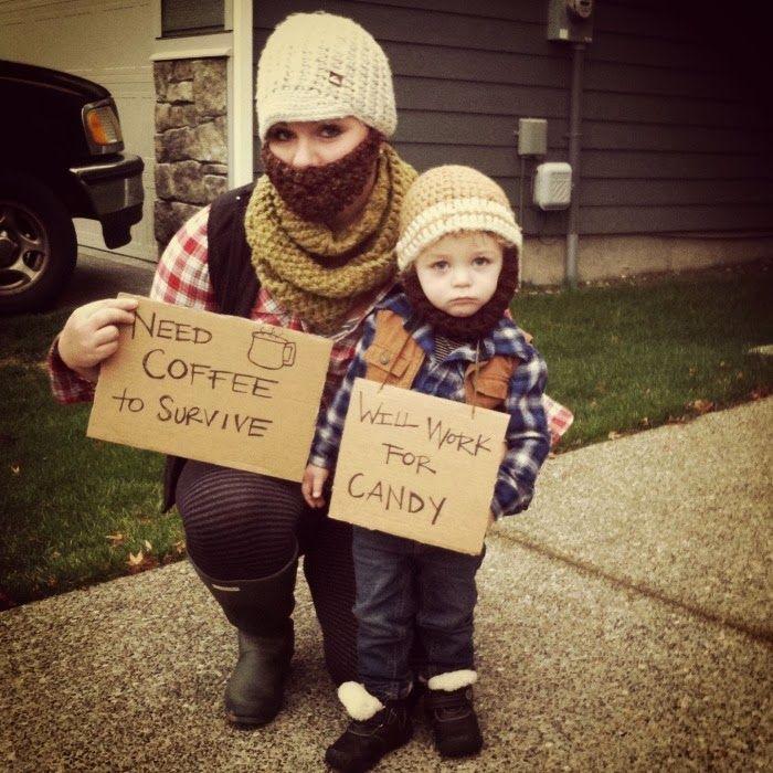 Soooo cute!!! hobo costume, mother son costume, Halloween