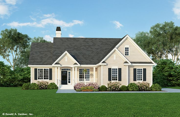 One Story Houses - NEW RENDERING - The Carmichael #800