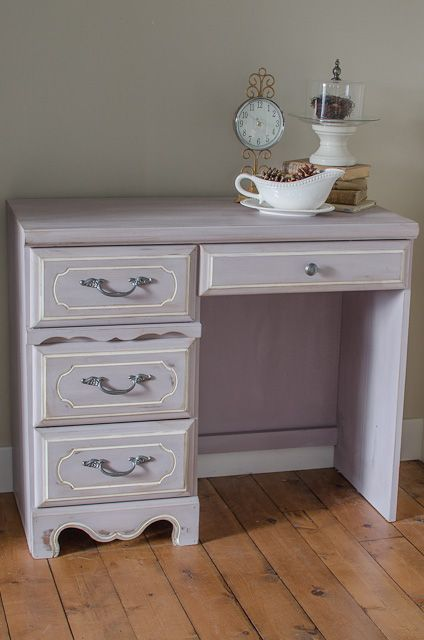Attractive Lavender Shabby Chic Desk, Painted Furniture, Shabby Chic, After