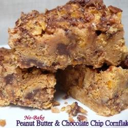 NoBake PB and Choc Cornflake Bars. Yummy no-bake treat for kids of ALL ages!
