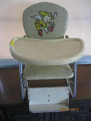 Vintage  Wonda  Baby Feeding Reclining High Chair w Table ... & 100 best 1950s vintage high chair images on Pinterest | 1950s ... islam-shia.org