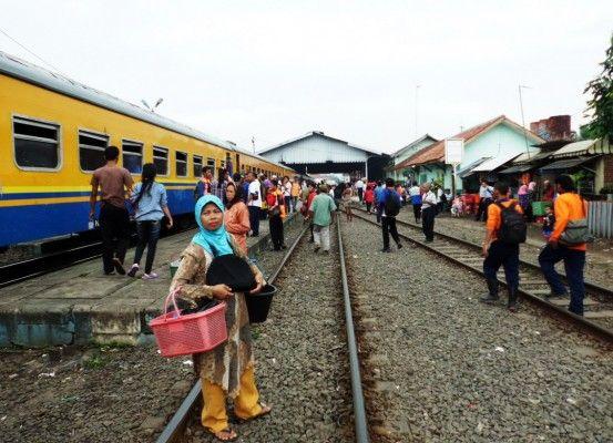 Stasiun Rangkasbitung mulai dipadati pemudik