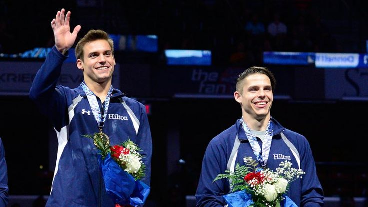 Sam Mikulak and Chris Brooks