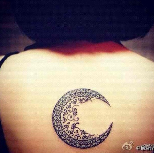 Londy and I love watching the moon so I want to get a moon with I love you to the moon and back written near it on my back!