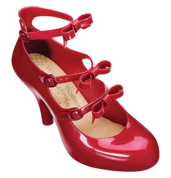 Vivienne Westwood Anglomania + Melissa Three Straps Elevated IV: My next must have purchase! Quintessential Vivienne Westwood style with Melissa comfort and sustainability. What a duo! Every girl needs a pair of classy red heels in her closet.