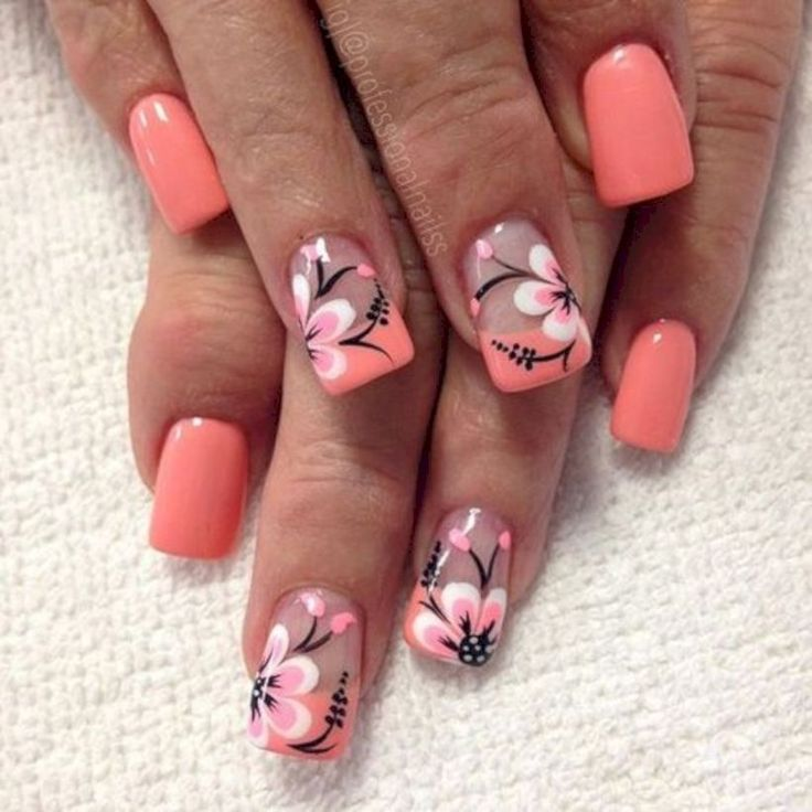 37 Accent Flower Nail Art Ideas Just For You