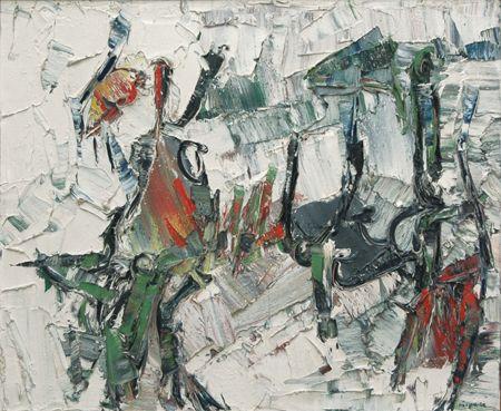 Jean-Paul Riopelle, Mont-Roland, 1958-1959, huile sur toile.