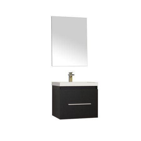 Photo Album For Website Ripley inch Single Wall Mount Modern Bathroom Vanity Set in Black with Mirror
