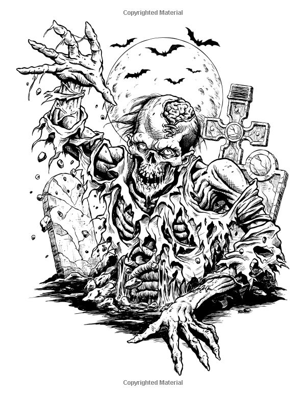 Coloring Pages Colouring Adult Detailed Advanced Printable Horror Coloring Pages For Adults