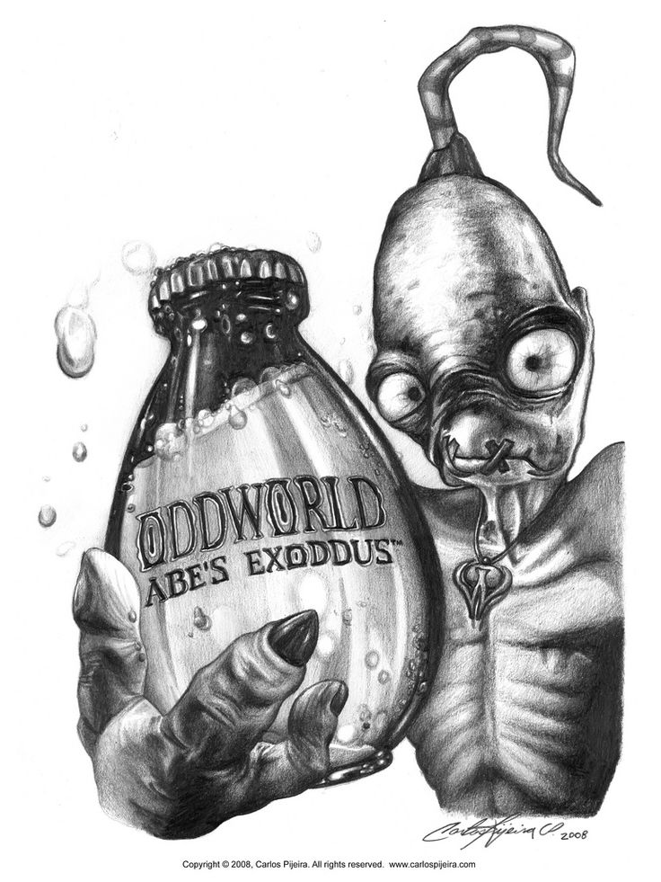 "Oddworld - Abe Drawing | INSPIRED [For All] ""Realistic"" Drawing Collection (Series One) 