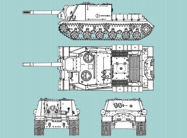 WWII Soviet ISU-152 Armored Self-Propelled Gun Ver.2 Free Paper Model Download - http://www.papercraftsquare.com/wwii-soviet-isu-152-armored-self-propelled-gun-ver-2-free-paper-model-download.html#125, #Armored, #AssaultGun, #ISU152, #Tank, #WWII