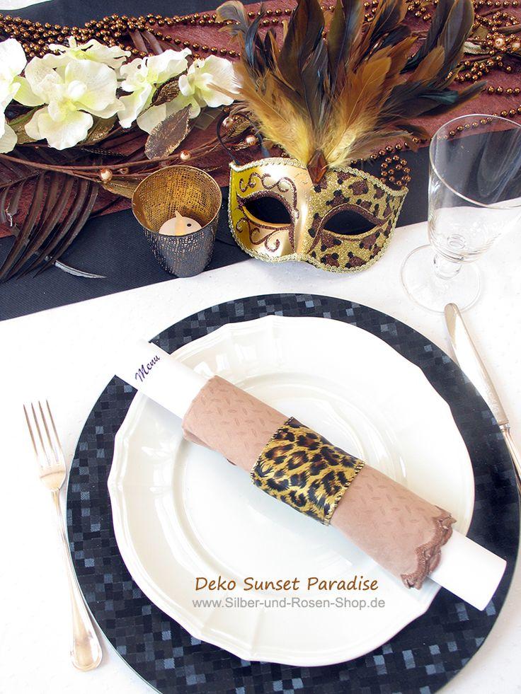 Die neuen #Trendfarben für die Abenddeko im Herbst #Kupfer #Schwarz #Gold als #Leopardenmuster.