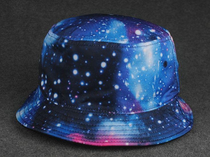Custom Bucket Hats Bulk Short Brim Bucket Cap Galaxy Cheap Bucket ...