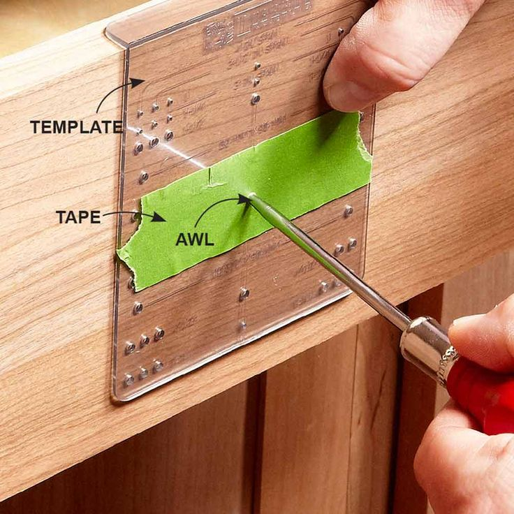 installing cabinet hardware template 2