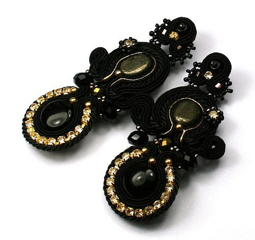 Glami black soutache earrings  High Fashion