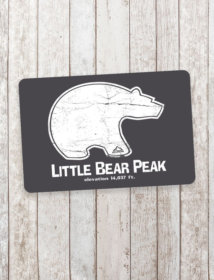 Little bear peak sticker