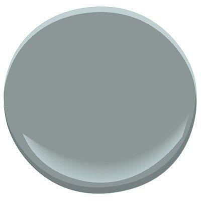 Benjamin Moore Brewster Gray: blue-gray, a Candice Olson designer color pick. Laundry Cabinets