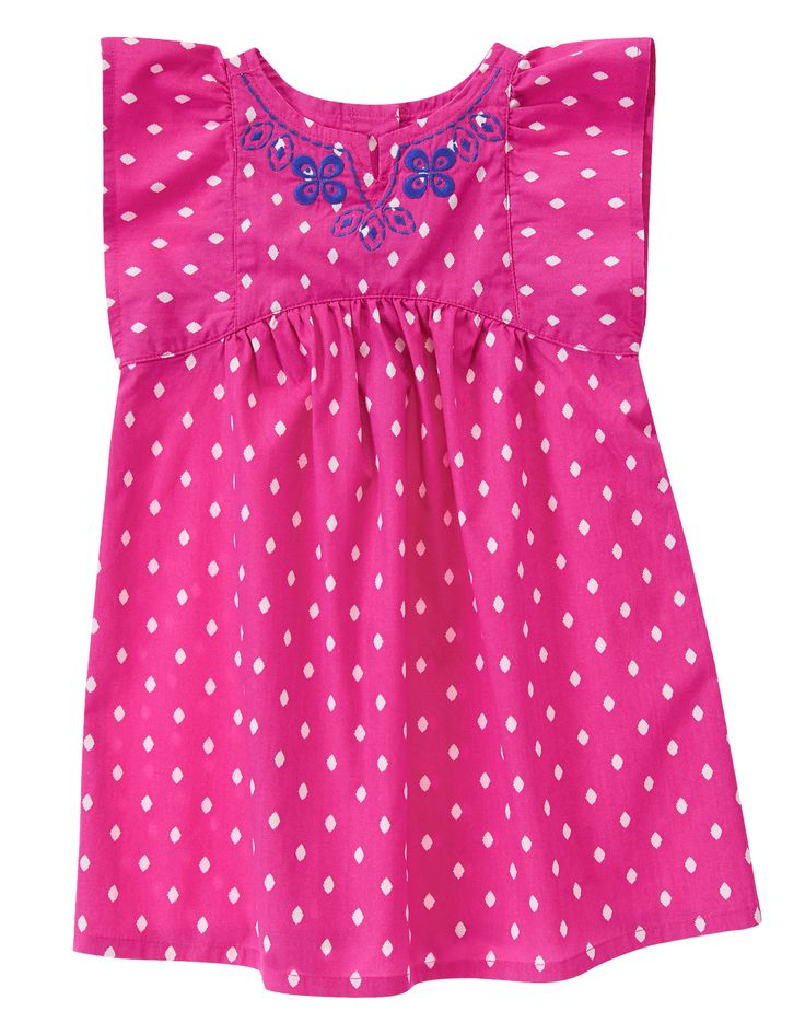 Diamond Print Embroidered Dress at Gymboree