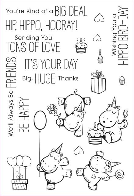 YPP OFÍCIO Hipopótamo Feliz Selo de Silicone Transparente Claro para DIY Fazer Scrapbooking/Cartão/Crianças Artesanato Divertido Decoração Suprimentos