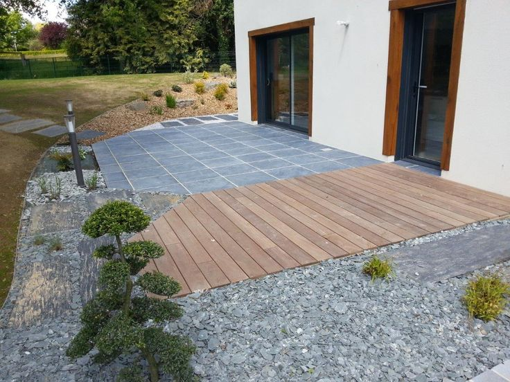 10 best Terrasses pierres naturelles images on Pinterest Natural - comment poser des dalles autour d une piscine