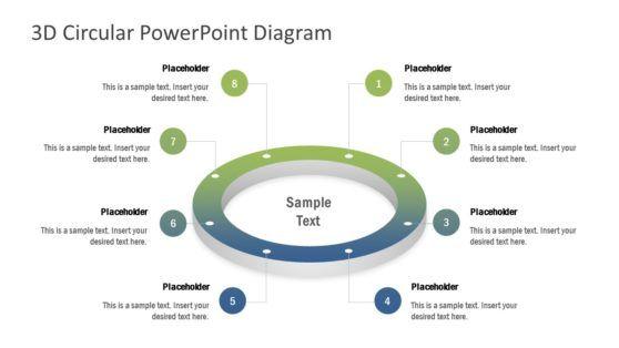 8 Steps Circular Ring Powerpoint Diagram Powerpoint Design Powerpoint Templates Powerpoint