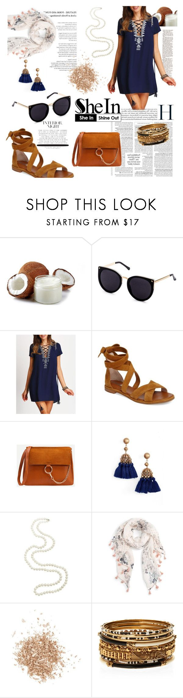 """""""shein tasseled lace up"""" by evelin93 ❤ liked on Polyvore featuring Louise et Cie, Loren Hope, Caslon, Topshop and Amrita Singh"""