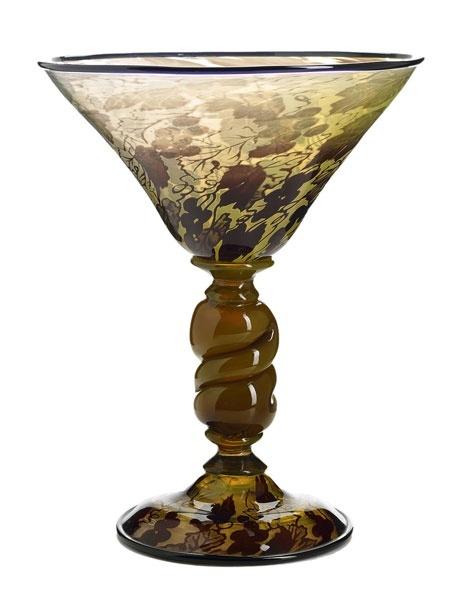 Simon Gate (Swedish, 1883-1945), Orrefors, Graal Glass Vase.