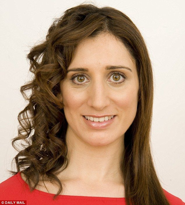 Impressed: Claire Coleman loved the way the Babyliss Perfect Curl transformed her straight locks