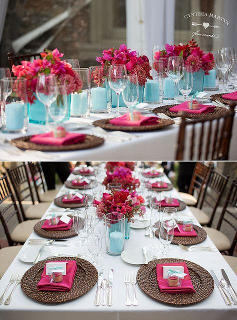 Watermelon & Aqua Wedding by Cynthia Martyn Events