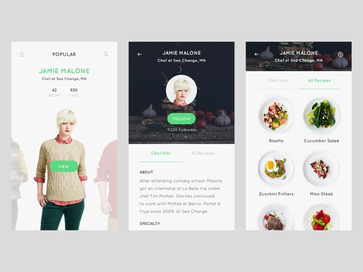 Profile screen - Recipe app by Thomas Budiman