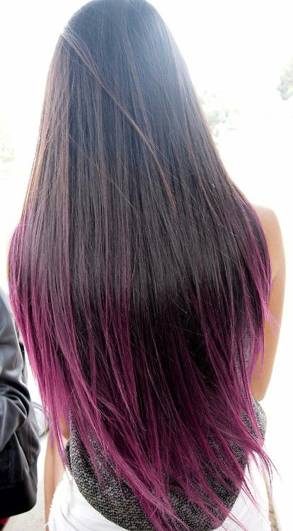 dip dye #purplehair #dyedtips