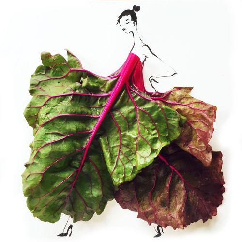 [写真] 野菜がドレスに。意外すぎる発想のファッションイラスト(cafeglobe) - エキサイトニュース