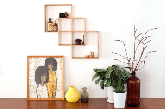SENKKI FURNITURE 3 Box Oak Shadow Box | Shelf | Shelves | Home to your beautiful trinkets
