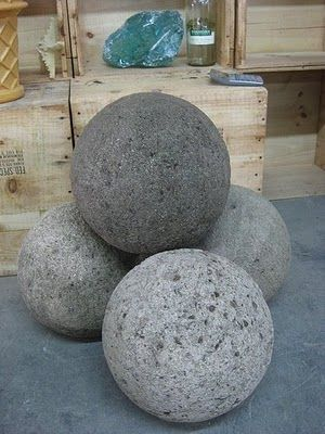 Hypertufa Mushrooms | hypertufa spheres in various sizes i particularly like this large one ...