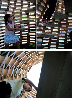 playscapes: DIY Playground #2: 'PlayHive' Playhouse by thoughtbarn