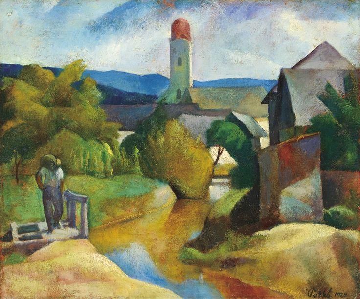 Patkó Károly - Nagybányai részlet, 1924