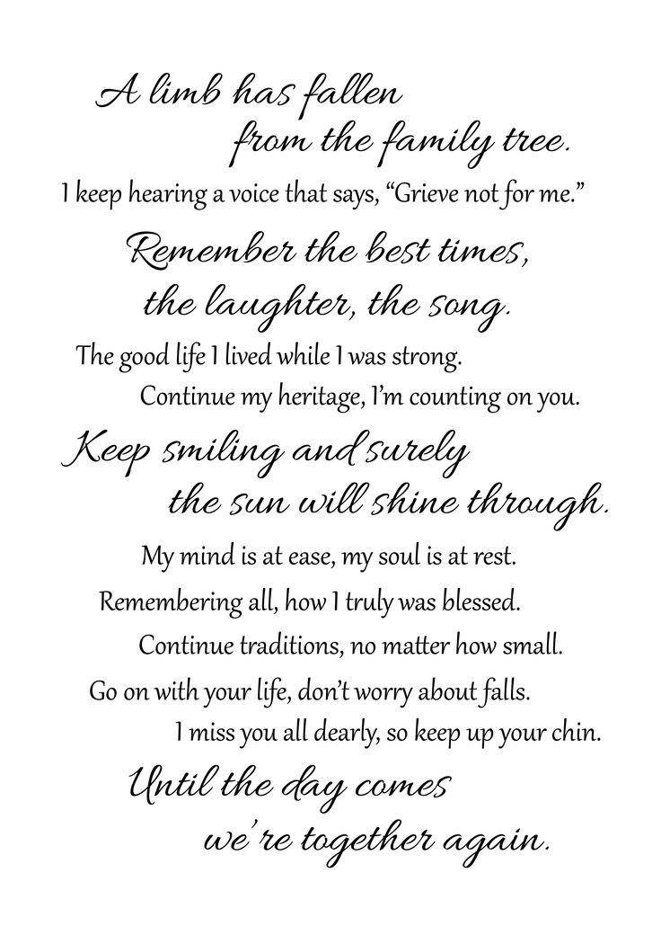 Tribute Center Funeral Poems Funeral Quotes Funeral