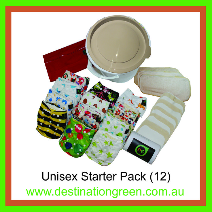 Unisex Starter Pack - includes 12 reusable nappies, $168.00